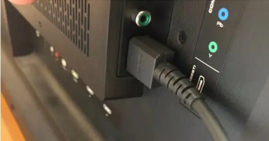 Plug the other end of the HDMI cable into your TV