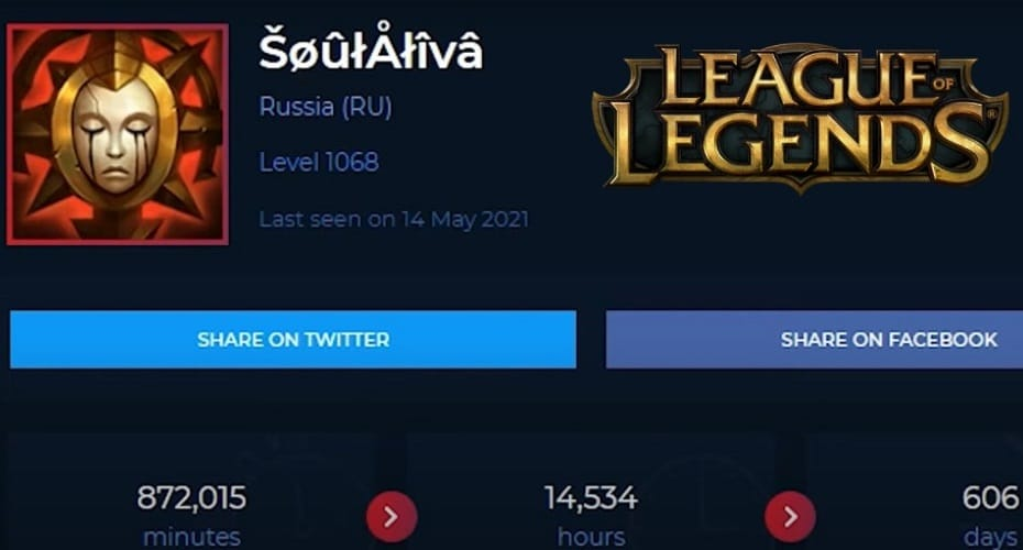 how much time have i wasted on lol